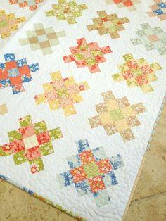 Granny Squares Quilt, tutorial.