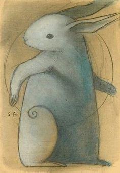 Bunny and swirl