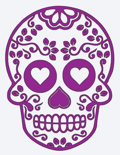 SUGAR SKULL Flower Heart Vinyl Decal * Valentines Day * Wall Decal * Window Decal * Love * Valentine * Romantic * Coffee Mug * Yeti by ATIMETOCUT on Etsy