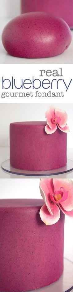 Delicious Homemade Blueberry Almond Fondant. Made… #fondant #blueberry #cake #karascouturecakes
