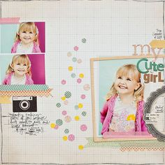 #papercraft #scrapbook #layout My little girl - Maggie Holmes - simple