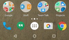 Enjoy the Android N window folder style with Nova luancher Beta
