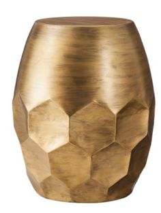 Delightful Threshold Round Metal Honeycomb Accent Table, Gold   Contemporary   Side  Tables And End Tables   Target