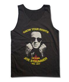 Joe Strummer Handprint Tank Top The Clash by StudioMFshop on Etsy, $16.99