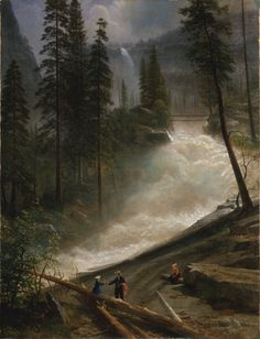 Nevada Falls, Yosemite, 1872 or 1873, Albert Bierstadt