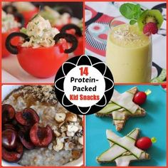 14 Protein-Packed Kid Snacks : modify for your family's needs