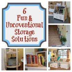 6 Fun & Unconventional Storage Solutions - Mom 4 Real by mona Storage Bins, Storage Cabinets, Storage Solutions, Storage Spaces, Storage Ideas, Extra Storage, Creative Storage, Storage Containers, Diy Craft Projects