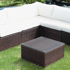 SIENA Outdoor Sofa 5 seaterSIENA 5 Seater Outdoor Lounge Set Brown/Ecru cushions Complete Set Background