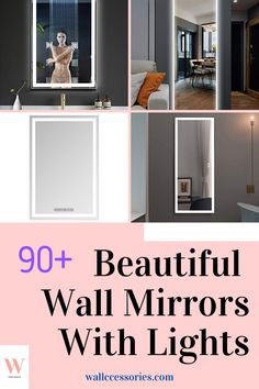 There are lots of places in your home where you can do with a wall mirror with lights. They are especially great in your bathroom and dressing area, or how about one near your entryway where you can make last minute changes right before heading out! Find yours now! Lighted Wall Mirror, Wall Mirrors, Mirror With Lights, Dressing Area, Beautiful Wall, Cool Walls, Bookcase, Entryway, Finding Yourself