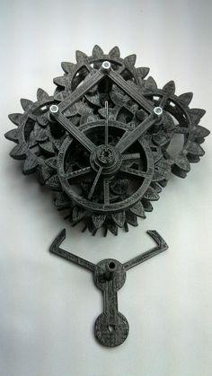 3d Printed (functioning) Clock, via Makerbot Blog
