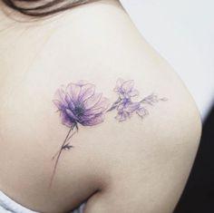 Delicate watercolor flowers by Tattooist Flower