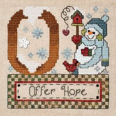"""August 2013 Pattern of the Month """"Offer Hope"""""""