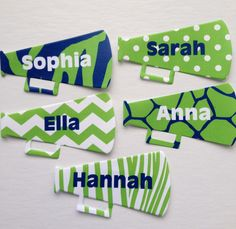 Cheer gifts / cheerleading bag tags   New color scheme for our megaphone bag tags!   www.toddletags.etsy.com