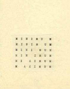 """roisinkiely: """" The Shape of Poetry: Carl Andre's Typed Works """" Design Graphique, Art Graphique, Poema Visual, Web Design, Graphic Design, Dutch Artists, Love Letters, Typography Design, It Works"""
