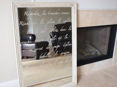 Stenciled mirror - very beautifully done