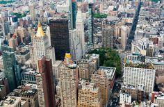 Nieuw in mijn Werk aan de Muur shop: New York Manhattan skyline