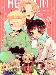 Hetalia! Germany Italy and Japan Credits to the artist