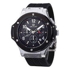 Pánské luxusní hodinky MEGIR v černo – stříbrném barevném provedení – pánské  hodinky Na tento produkt 7359259a6d