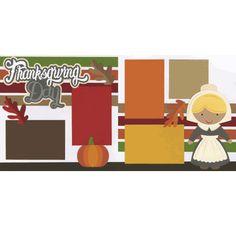 Thanksgiving Day - Pilgrim Girl Page Kit