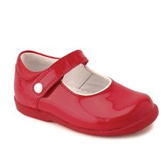 67ab00d541511 ... Red Patent Girls Riptape First Walking Shoes are available in a wide  range of sizes and width fittings - Quality Childrens Shoes & Boots from  Start-Rite