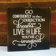 Gift for Graduation Distressed  Sign Go Confidently  Teens Office Studio College Dorm on Etsy, $24.00