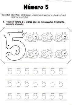 Numbers Preschool, Free Preschool, Preschool Printables, Preschool Worksheets, Preschool Painting, Alphabet Tracing Worksheets, Mazes For Kids, Spanish Teaching Resources, Simple Math