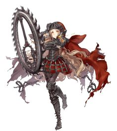 View an image titled 'Red Riding Hood, Breaker Job Art' in our SINoALICE art gallery featuring official character designs, concept art, and promo pictures. Female Character Design, Character Design References, Character Design Inspiration, Character Concept, Character Art, Concept Art, Anime Fantasy, Fantasy Girl, Fantasy Characters
