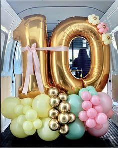 Candy Theme Birthday Party, Birthday Balloon Decorations, Birthday Balloons, Balloon Bouquet, Balloon Arch, Balloon Garland, Ballon Diy, Busquets, Balloon Display