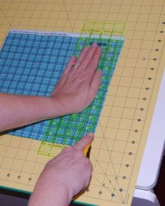 Squaring and cutting fabric