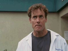Reaction GIF: waiting, contemplating, John C. McGinley, Dr. Cox, Scrubs  (annnnnnnnd... today's drama is different from yesterday's, how...?)