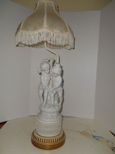 Vintage FRENCH  Bisque  Nude cherub  PUTTI Lamp Boy Girl  #NeoClassical for sale girlsauction2 on ebay