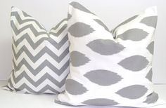 Searching for the Perfect Cloud Stool at the Perfect Price Etsy shop ElemenOPillows, which sells modern, fresh, chic, and affordable pillow slipcovers! Yellow Pillows, Grey Pillows, Ikat Pillows, Grey Pillow Covers, Decorative Pillow Covers, Cushion Covers, Pillow Room, Pillow Set, Decor Pad