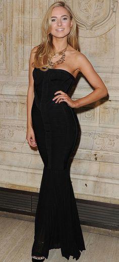 Kimberley Garner in Herve Leger Kimberley Garner, Made In Chelsea, Herve Leger, Street Style, Gowns, Formal Dresses, Beauty, Beautiful, Fashion