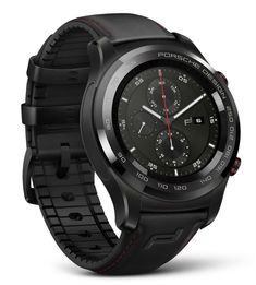 Porsche Design partners up with Huawei to create their version of a smartwatch. Featuring among other things the signature Porsche Design tachymeter scale bezel in black ceramic.