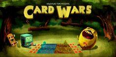 Noticia sobre el nuevo juego de Hora de Aventura llamado Guerra de cartas en versión para dispositivos móviles.