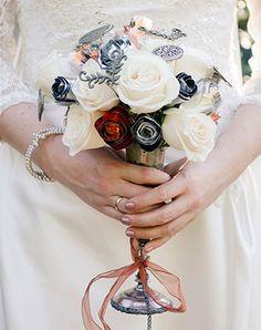 букет невесты в стиле стимпанк