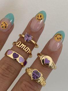 Nail Jewelry, Funky Jewelry, Stylish Jewelry, Stylish Nails, Trendy Nails, Cute Jewelry, Cute Acrylic Nails, Cute Nails, Nail Ring