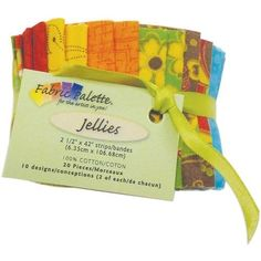 Fabric Palette 2-1/2-Inch by 42-Inch Cuts Jellies 100-Percent Cotton, 20-Pack, Down Home Traditions by Fabric Editions, LLC, http://www.amazon.com/dp/B0054H2P84/ref=cm_sw_r_pi_dp_PW2nsb0FHB7DB