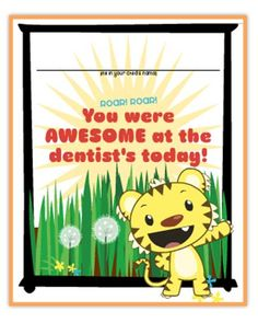 """Celebrate a tear-free trip to the dentist with Rintoo's """"After the Dentist"""" certificate!"""