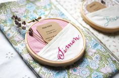 Embroidery Hoop Place Name DIY, what an adorable little pocket!