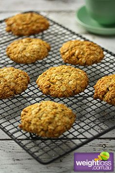 Almond Meal Anzac Biscuits . #HealthyRecipes #DietRecipes #WeightLossRecipes weightloss.com.au