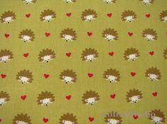 Hedgehog Heaven Olive Michael Miller Fabric