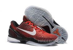 "8e37dfbb3078 Nike Zoom Kobe 6 ""All Star"" Challenge Red White-Black Authentic"