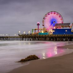 Santa Monica Pier in Santa Monica, CA. I use to ride the carousel every Sunday as a kid.