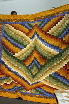 Bargello Quilt, no info on the creator but isn't it awesome!