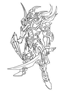 Yu Gi Oh The Enemy Will Attack With Swords Coloring Page