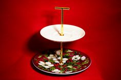 Christmas Holidays Tidbit Tray Tiered Stand by TeaAtTheBrits