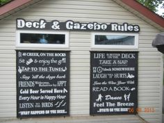 my new deck signs are done