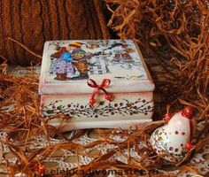 """Шкатулка с сюрпризом """"Сладкая ягода"""" - шкатулка,Декупаж,подарок для влюбленных"""