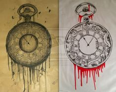 Pocket Watch print and drawing by 12KathyLees12.deviantart.com on @deviantART